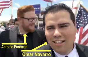 Omar Navarro (front, right, with label) and Antonio Foreman (rear, left, with label)